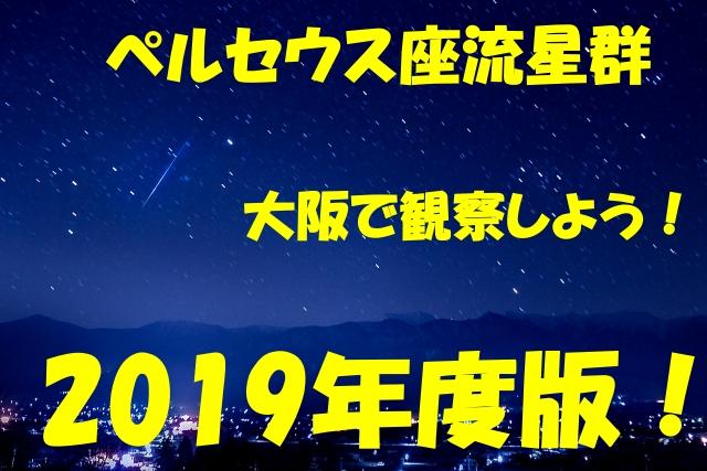 ペルセウス座流星群を大阪で観察する方法